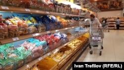Хлебный отдел московского магазина