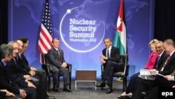 دیدار دو جانبه باراک اوباما و پادشاه اردن در حاشیه نشست امنیت هستهای واشینگتن