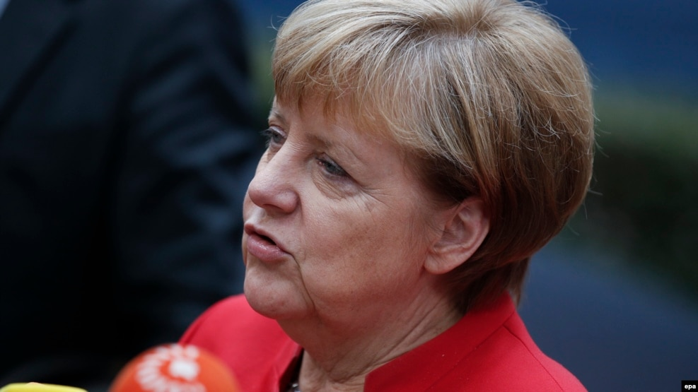 German Chancellor Angela Merkel said last week that there were signs of Internet attacks and misinformation campaigns from Russia (file photo).