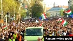 Prosvjed u Budimpešti, fotoarhiv