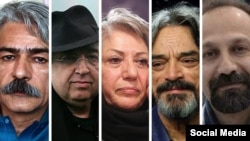 Several Iranian celebrities who have signed a petition against sanctions reimposed by the U.S.