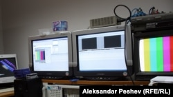 An RFE/RL video editing station in Skopje, Macedonia.
