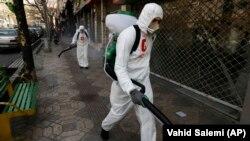 Իրան - Թեհրանի փողոցներում ախտահանում է իրականացվում, 5-ը մարտի, 2020թ.