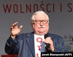 Лех Валенса виступає з нагоди 30-ї річниці перших вільних виборів у Польщі, які відбулися на початку червня 1989 року. Ґданськ, 4 червня 2019 року