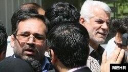 شمسالدین حسینی (چپ) و محمود بهمنی (راست)