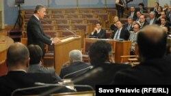 Milo Đukanović u Skupštini Crne Gore