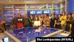 Журналисты Аджара ТВ Общественного вещателя Грузии
