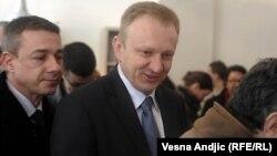 Dragan Gjilas, kryetar i Partise Demokratike në Serbi.