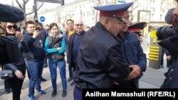 Задержания на пешеходной улице Панфилова в Алматы. 22 марта 2019 года.