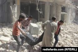 Наслідки авіаударів російських бомбардувальників. Алеппо, Сирія, жовтень 2016 року