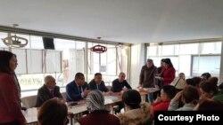 Түркиядагы кыргыз мигранттары менен жолугушуу.