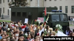 Женский марш в Минске, 29 августа 2020 года
