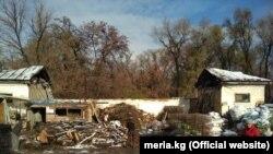 Фучик паркындагы жайкы кинотеатрдын азыркы абалы. Сүрөт Бишкек шаардык мэриясына тиешелүү.