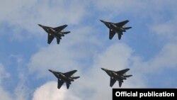 Российские военные самолеты МиГ-29. Иллюстративное фото.