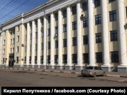 Графіті «Путін – *****» на фасаді Управління МВС у Ярославській області