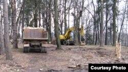 Подготовка к строительству на территории Бурковского грунтового могильника, 28.04.2013