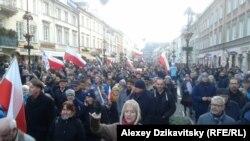 Під час однієї з масових акцій у Варшаві