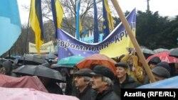 Акмәчеттә Евромайданны яклау чарасы