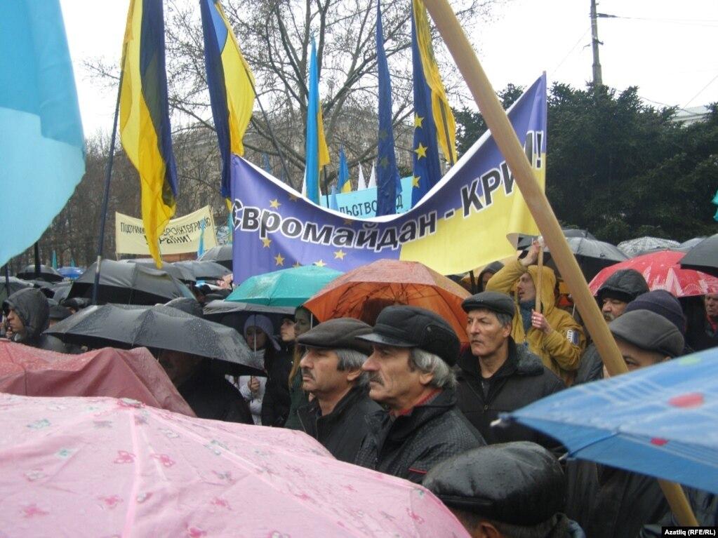 Митинг Евромайдан-Крым