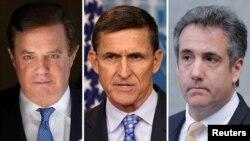 Пол Манафорт, Майкл Флинн и Майкл Коэн, в прошлом ближайшие сотрудники Трампа, осуждены в результате расследования Мюллера
