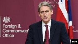 U.K. Foreign Secretary Philip Hammond (file photo)