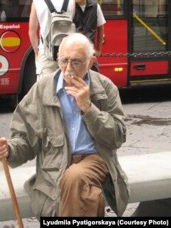 Александр Пятигорский в Рим, 2007. Фото Людмилы Пятигорской