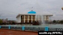 Uzbekistan - Norouz (Navruz) in Tashkent, building of Uzbek parliament, 21Mar2013