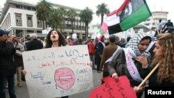 Мартовская демонстрация в Касабланке