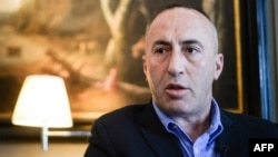 "Former Kosovo Prime Minister Ramush Haradinaj has described himself as a ""political hostage."""