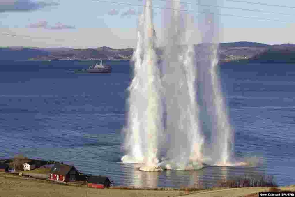 Теңіздегі жарылыс. Норвегияда НАТО тарихындағы ең ірі әскери жаттығулардың бірі өтіп жатыр