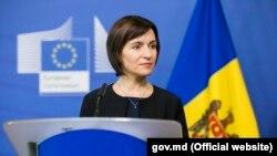 Premierul Maia Sandu în cursul primei vizite la Bruxelles, 3 iulie 2019