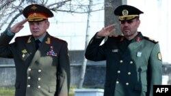 وزیران دفاع ایران و روسیه در تهران