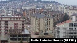 Станбени згради во Охрид.