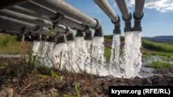 Временный трубопровод к Симферопольскому водохранилищу | Крымское фото дня