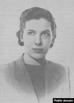 "Янина Хохлова (фото из книги Н.Хохлова ""Право на совесть"". Посев, 1957)"