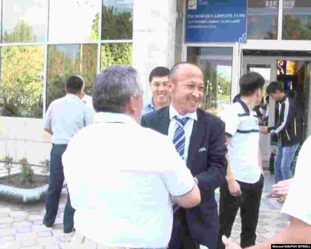 Kyrgyzstan - Meeting FIFA referee Bahadir Kochkarov in Osh