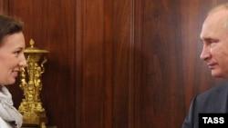 Владимир Путин встречается с Анной Кузнецовой