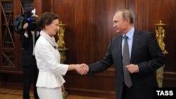 Россия. Владимир Путин и Анна Кузнецова. Москва, Кремль, 09.09.2016