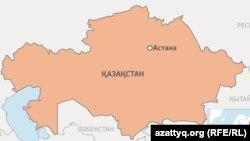 Астананың картадағы орны (Көрнекі сурет).