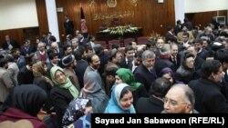 Членовите на авганистанскиот Парламент