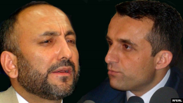 Afghanistan's former Interior Minister Hanif Atmar (left) and former intelligence chief Amrullah Salih (composite photo)