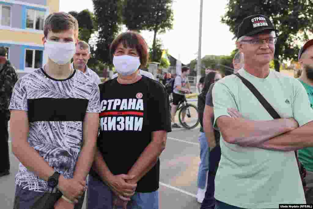 Прыхільнікі блогера Сяргея Ціханоўскага