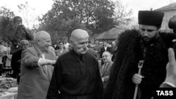 Никита Хрущев и Фидель Кастро в Грузии, 1962 г