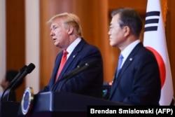 مون و ترامپ در کنفرانس خبری روز یکشنبه
