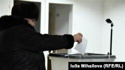 O secție de votare din Chișinău