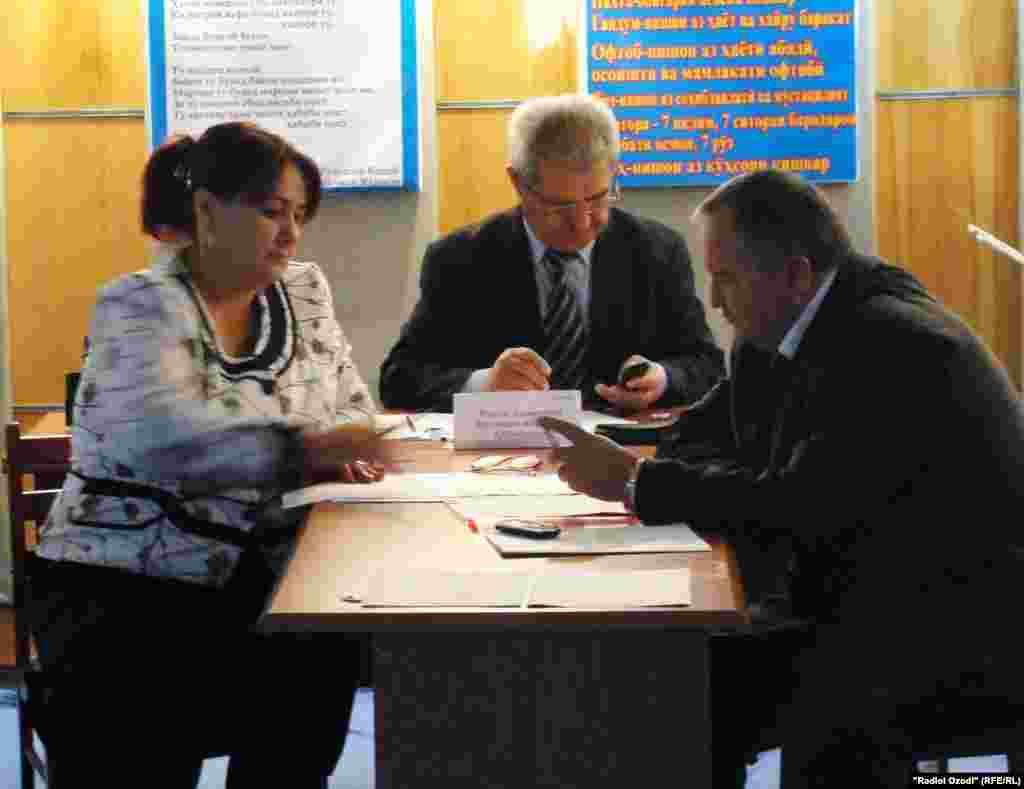 Таджикистан: Центральная избирательная комиссия готовится к выборам в округе Сино г. Душанбе
