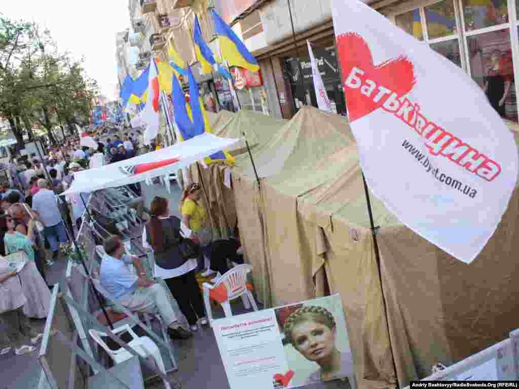 Окружний адмінсуд Києва заборонив проведення мирних зібрань біля Печерського суду. Намети встановлено як приймальні народних депутатів.