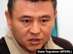 Мухтар Тайжан, оппозиционный политик. Алматы, 16 апреля 2012 года.