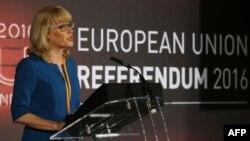 U.K. -- Jenny Watson șefa Comisiei Electorale anunță rezultatul referendumului