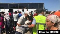 Эвакуация населения Арыси, 24 июня 2019 года.